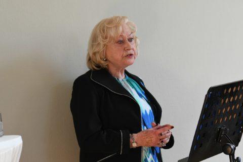 Die Stifterin Brigitte Schubert Oustry